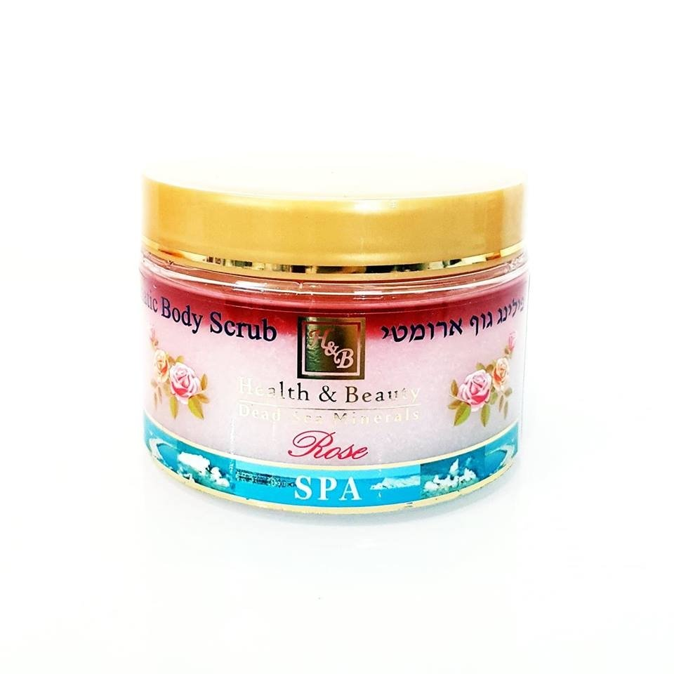 Dead Sea Cosmetics - Marelin Cosmetics - Aromatic Body Peeling - rose