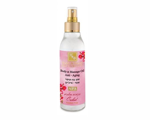 Dead Sea Cosmetics - Marelin Cosmetics - Body & Massage Oil Anti - Aging Orchid