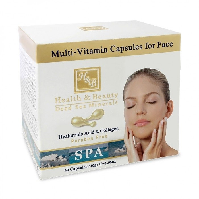 Dead Sea Cosmetics - Marelin Cosmetics - Multi-Vitamin Capsules for Face with Hyaluronic Acid & Coll